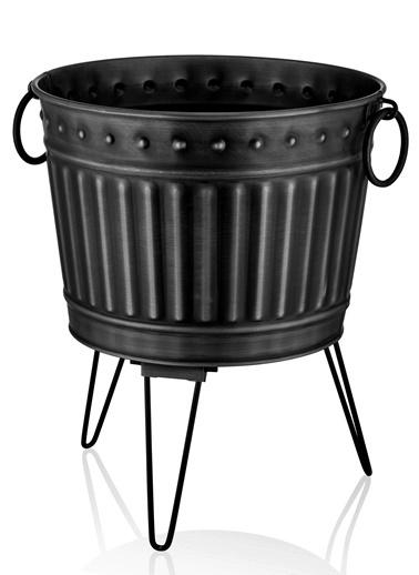 The Mia Saksı 43 x 45 Cm- Siyah Siyah